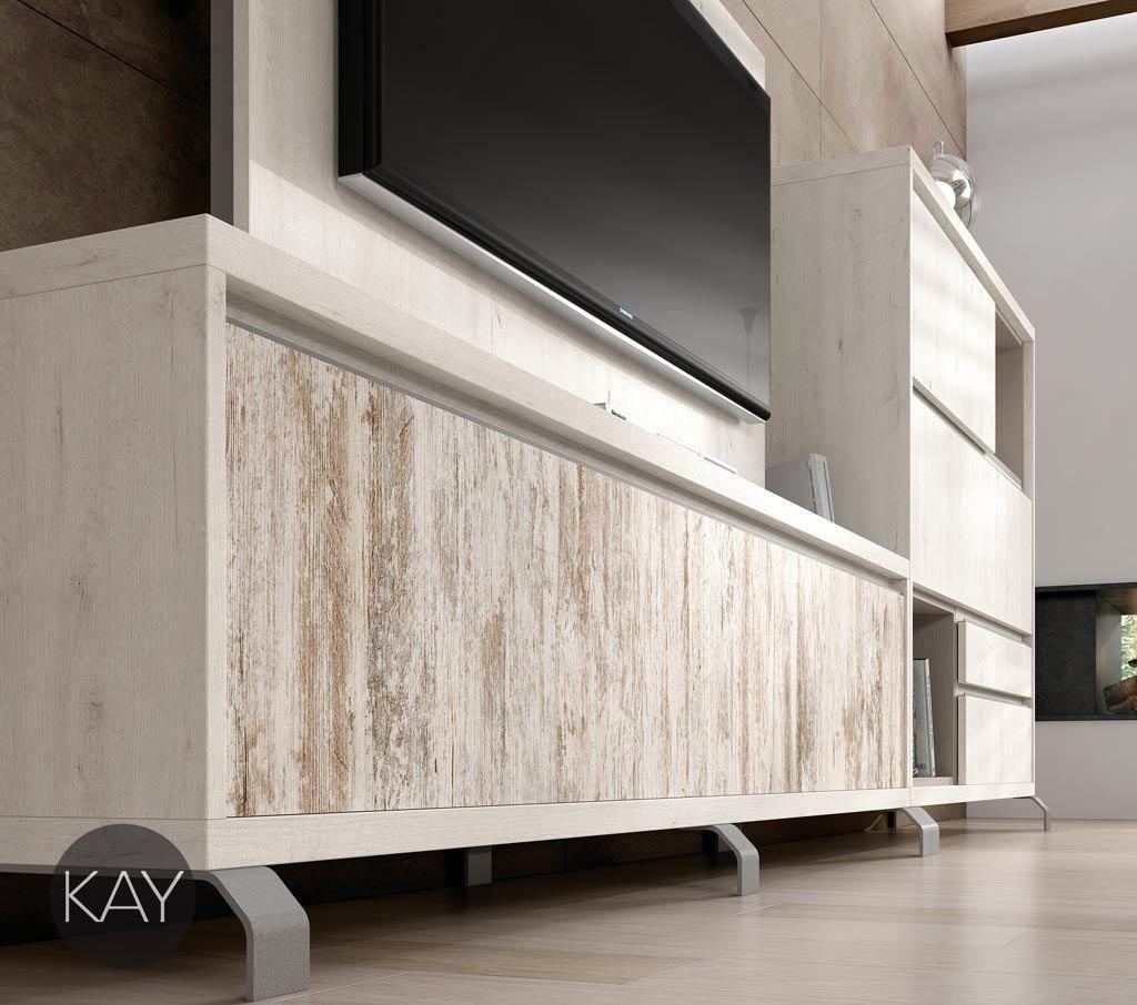 Mueble Para La Televisi N Con Patas Met Licas Con Los Frentes Del  # Muebles Novedosos