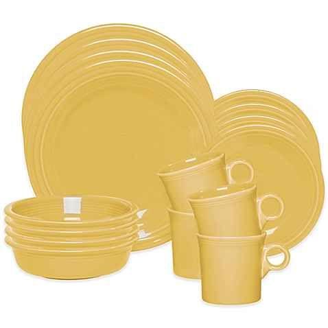 Fiesta® 16-Piece Dinnerware Set in Sunflower  sc 1 st  Pinterest & Fiesta® 16-Piece Dinnerware Set in Sunflower | IDEAS FOR MY HOME ...