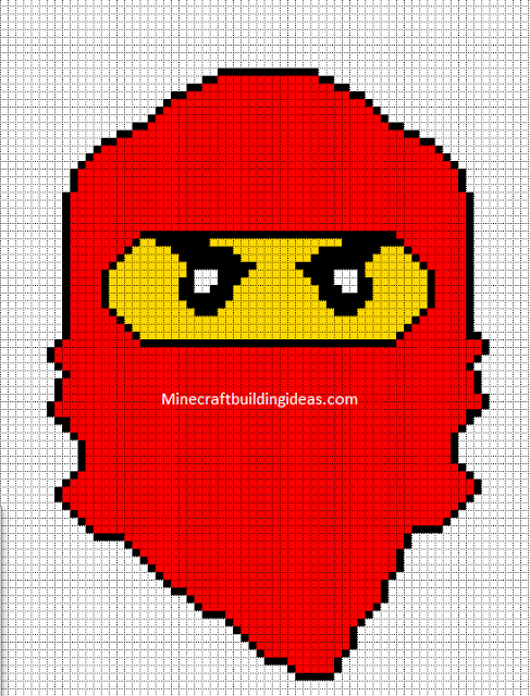 Red Ninjago Perler Design Perler Beads Pinterest Minecraft
