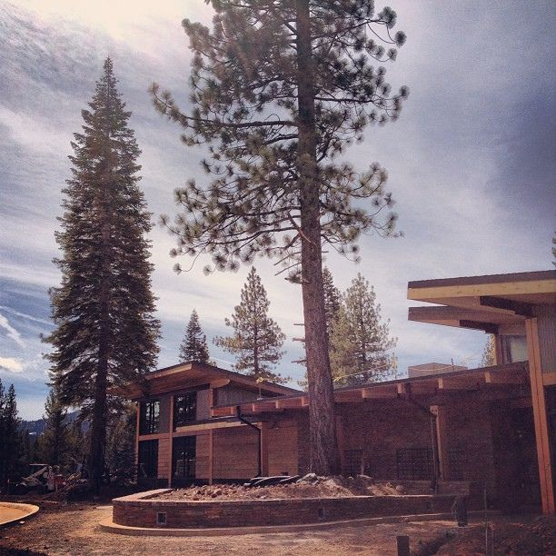 The Clubhouse at Schaffer's Mill. Counting down to its opening! #construction #clubhouse #tahoe #truckee #architecture