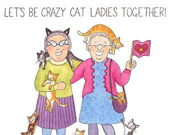Crazy old ladies greeting card lets be friends til were old and crazy old ladies greeting card lets be by churchmousepress m4hsunfo