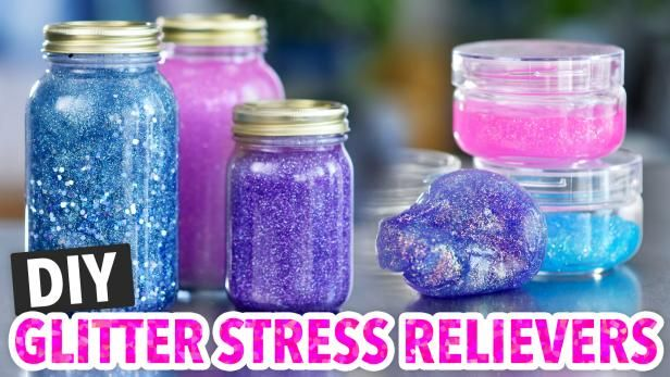 These Gilttery Diy Stress Relievers Are Great For Adults And Kids Alike Diy Stress Relief Glitter Jars Think I Will Glitter Jars Glitter Jars Diy Glitter Diy