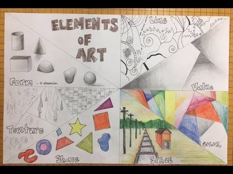 Elements Of Art In Famous Artworks Youtube 7 Elements Of Art Elements Of Art Classroom Art Projects,Pink And Black Nail Art Designs