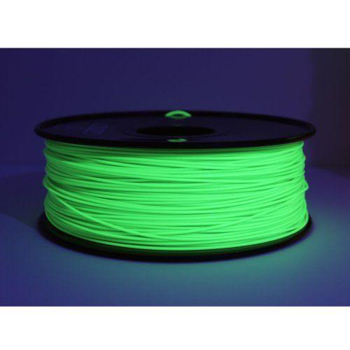 UV Light Fluorescent Green Gizmo Dorks 3mm 2.85mm PLA Filament 1kg // 2.2lb for 3D Printers