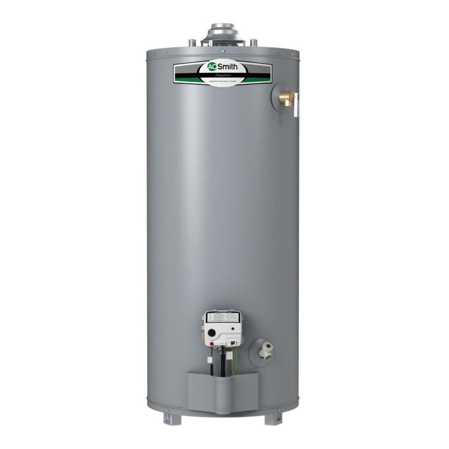 A O Smith Signature 50 Gallon Short 6 Year Limited Natural Gas Water Heater With Images Natural Gas Water Heater Gas Water Heater Water Heater
