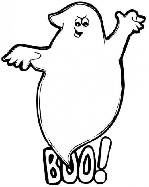 Ghost Template Printable Halloween Decorations Halloween