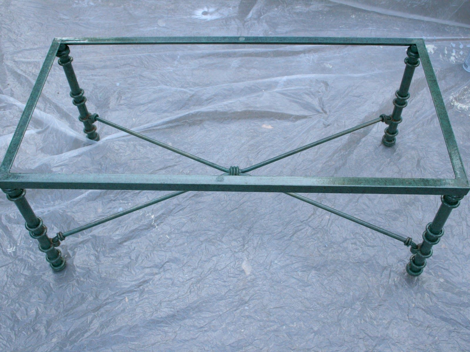 Pier One Coffee Table Glass Top