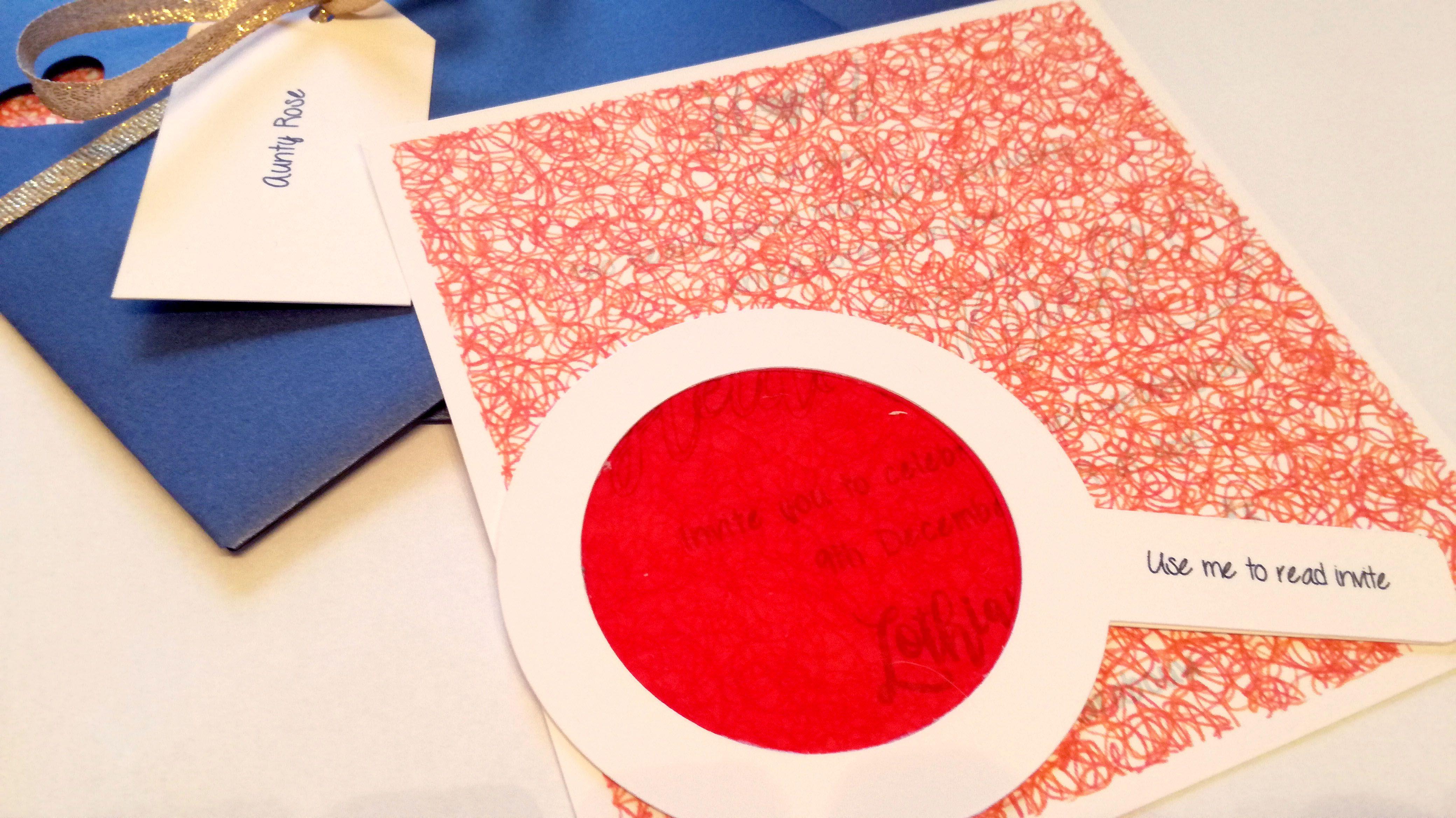admin , Decorder red blue wedding invitation with folder , Wedding ...