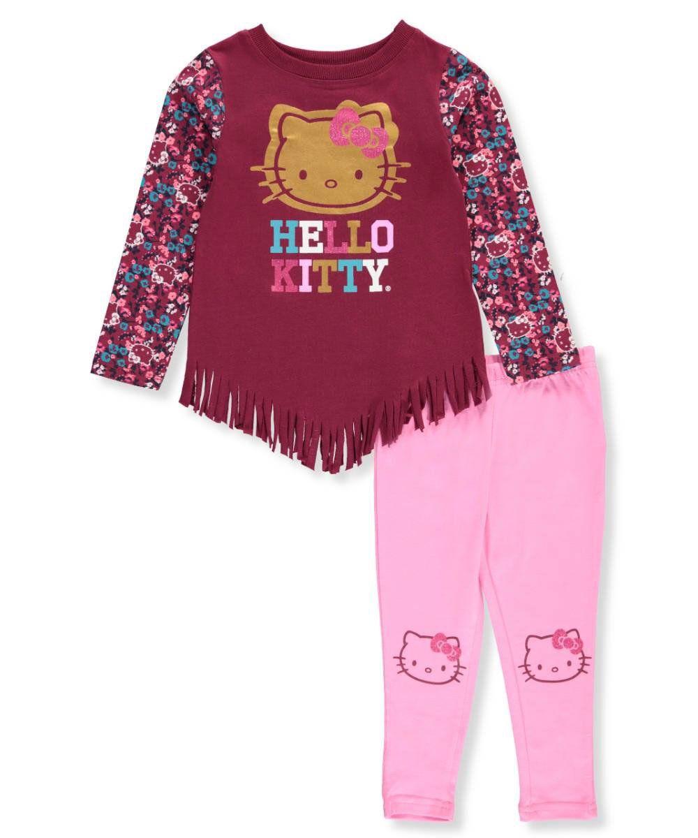 f4c0450e1 Hello Kitty Little Girls' 2-Piece Outfit - burgundy, 6. Hello Kitty ...