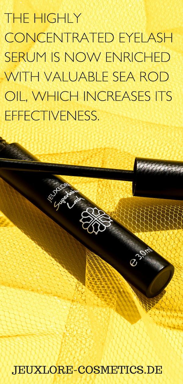 3506cd2dc67 ... Superlative Lash von Jeuxloré Cosmetics. The highly concentrated eyelash  serum is now enriched with valuable sea rod oil, which increases