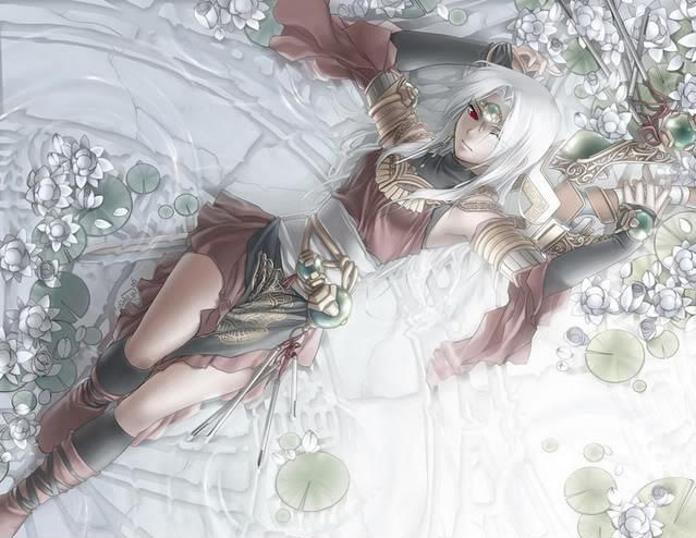 Ninja Girl With White Hair And Red Eyes Anime Ilustracao Ilustracoes