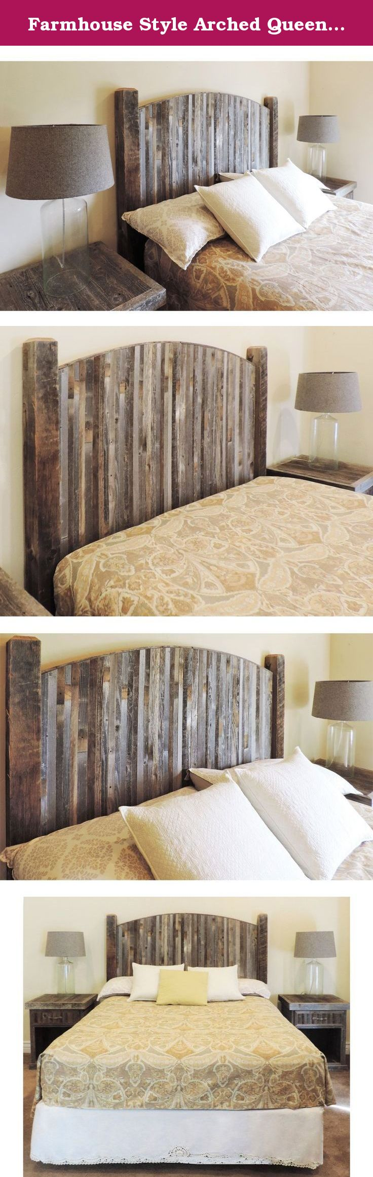 Farmhouse Style Arched Queen Bed Barn Wood Headboard w
