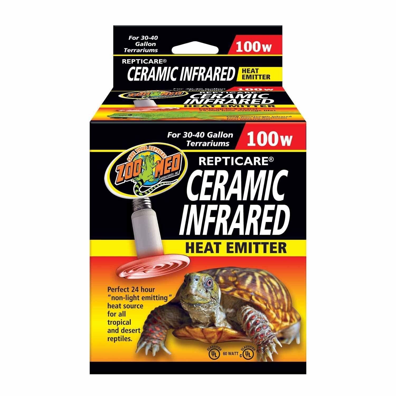 Zoo Med Repticare 100 Watt Ceramic Infrared Heat Emitter In 2019 Reptile Heat Lamp Reptile