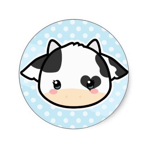 Cow kawaii. Sticker our zazzle favorites