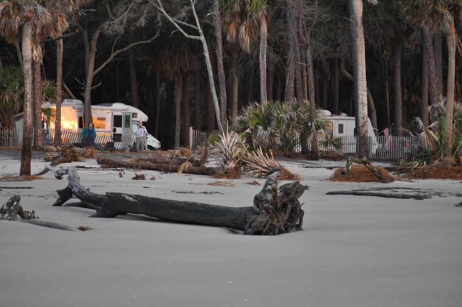 You Camp On The Beach At Hunting Island State Park Campground