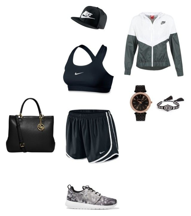 """""""Black ~stylish~ Nike and MK set"""" by the-black-outfits ❤ liked on Polyvore featuring NIKE, MICHAEL Michael Kors and BP."""