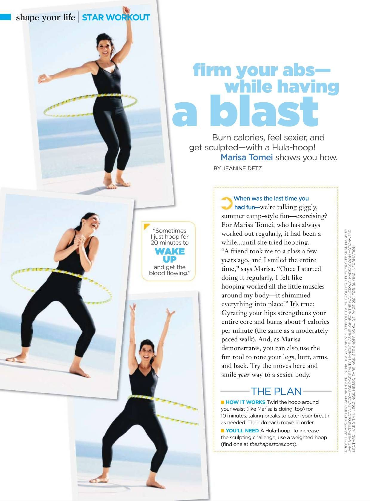 hula hoop workout with marisa tomei fitness workouts. Black Bedroom Furniture Sets. Home Design Ideas