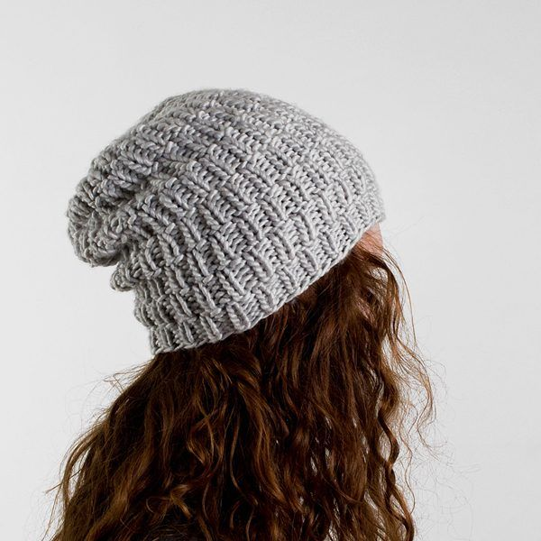 Super Simple Slouchy Hat Knitting Pattern - Brome Fields ...