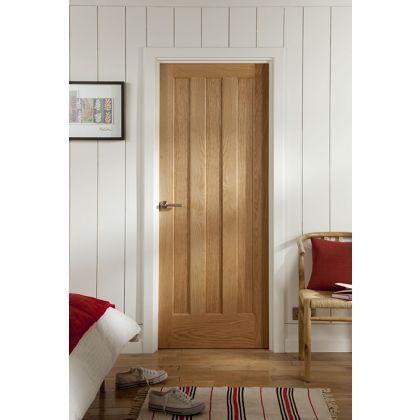Aston 3 Panel White Oak Veneer Internal Door