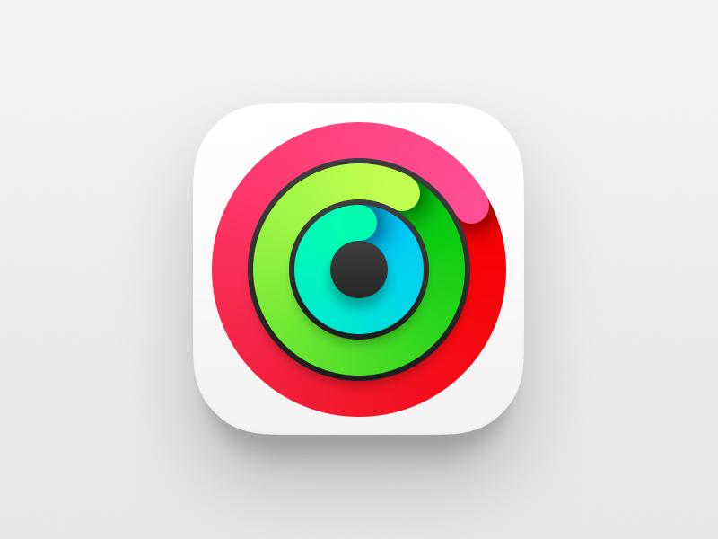 Apple Watch Activity icon Apple watch activity, App icon