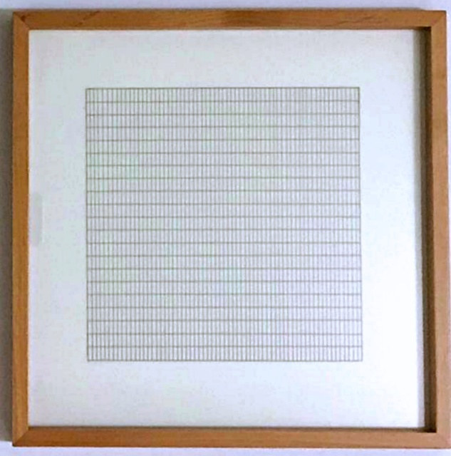 Ok Go The Writing S On The Wall Lyrics Agnes Martin Untitled From Stedelijk Museum 1991 In 2020 Agnes Martin Wall Drawing Museum