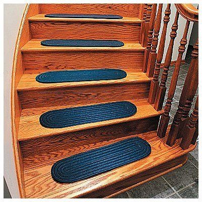 Best Braided Stair Tread Rugs Set Of 4 Improvements By 640 x 480
