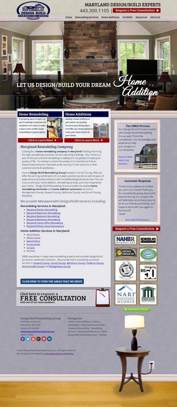 Website Design For Design Build Remodeling Group Webdesign Web Design Layout Userinterface Websit Portfolio Web Design Building Design Web Design Company