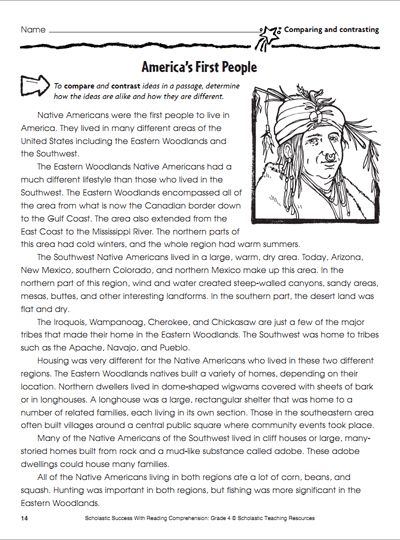 America S First People Social Studies Worksheets 4th Grade Social Studies Compare And Contrast Passages Social studies comprehension worksheets