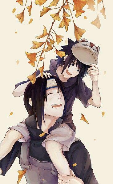 Itachi, Sasuke, Anbu, mask, cute, Uchiha brothers, young ...