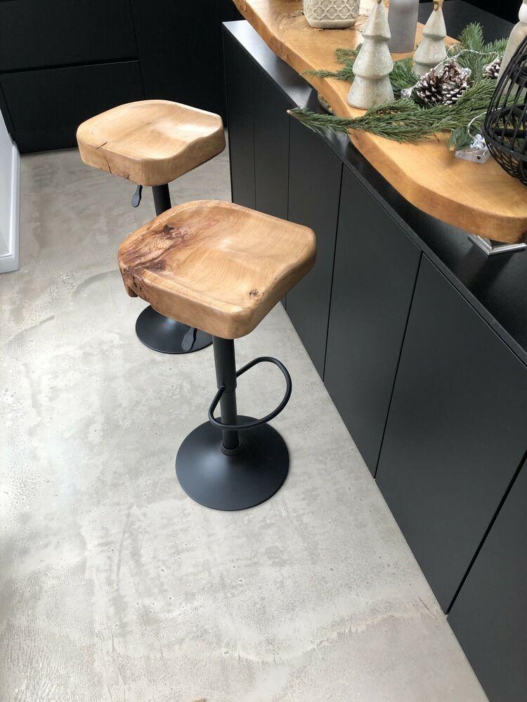 Barhocker Industriedesign Eiche Metal Holz Hohenverstellbar Schwarz Matt Ebay Barhocker Kuche Barhocker Holz Kuche Eiche