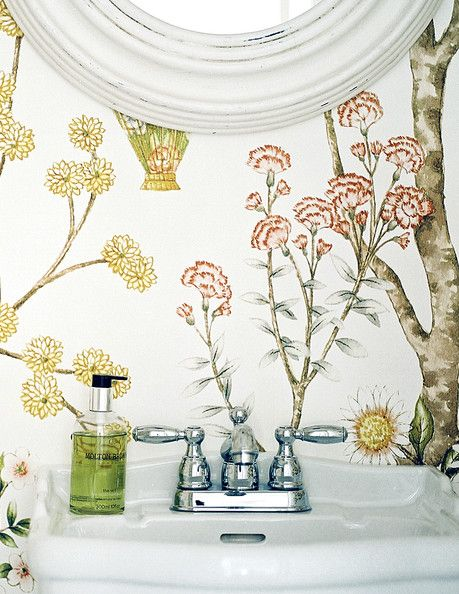 bathroom wallpaper Wallpapers Pinterest Baños, Baños pequeños