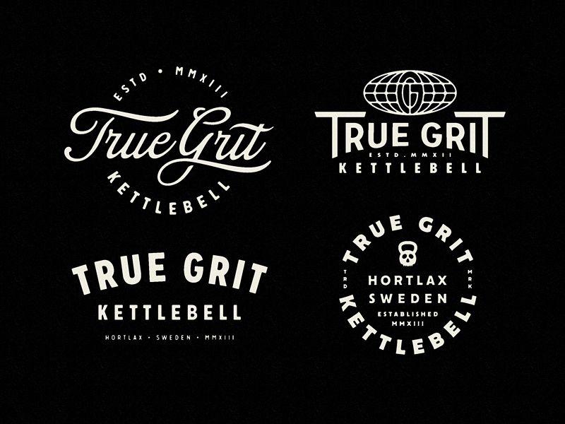 True Grit Kettlebell Merch True Grit Sports Design Inspiration Fitness Branding