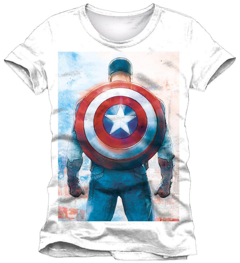 Camiseta espalda Capitán América | Capitán américa, El capitán ...