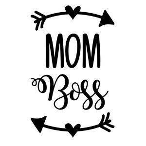 Mom Boss Funny Vinyl Car Decal Bumper Window Sticker Any