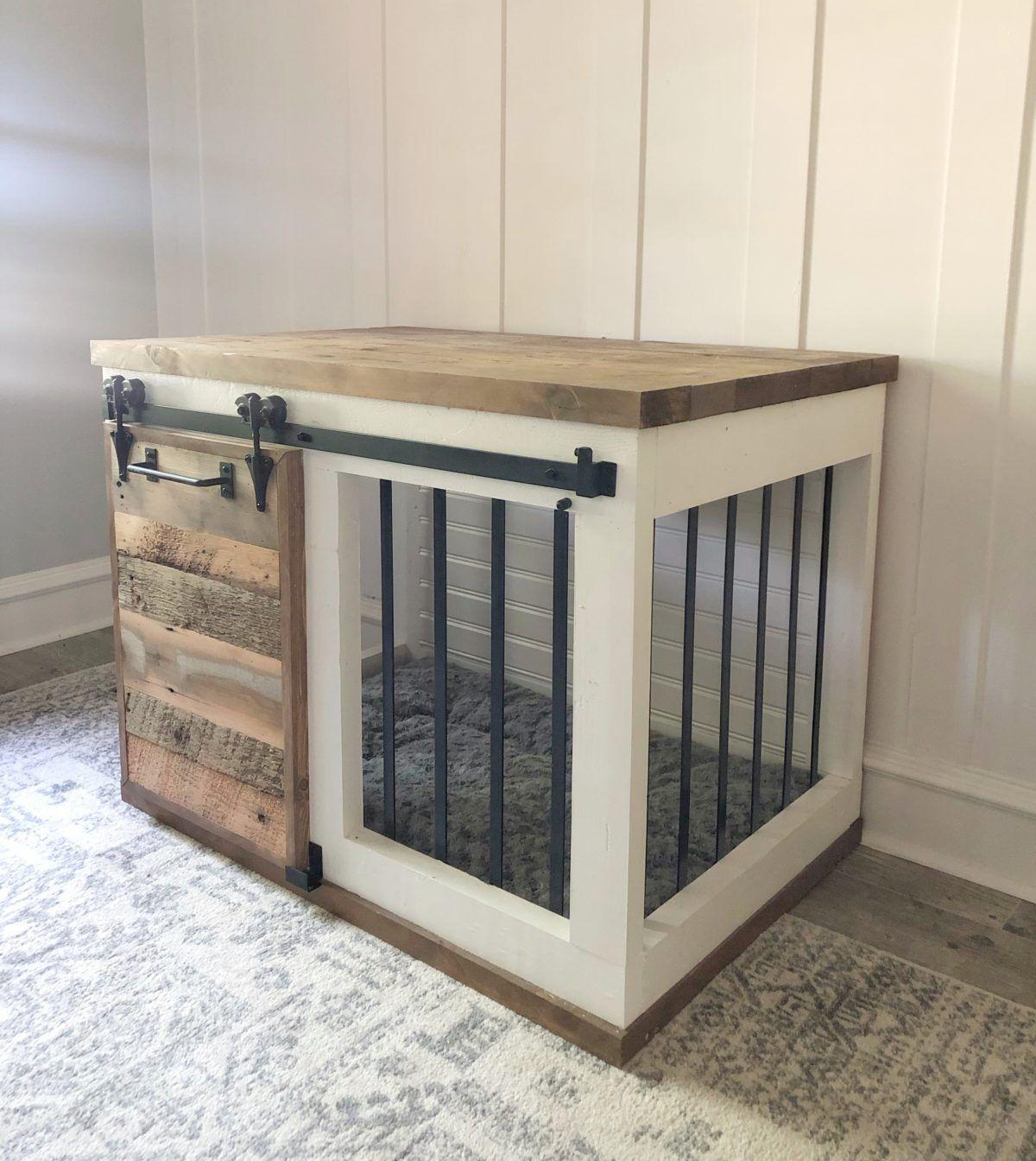 Diy Barn Door Dog Crate Diy Dog Crate Diy Dog Kennel Dog Kennel Furniture