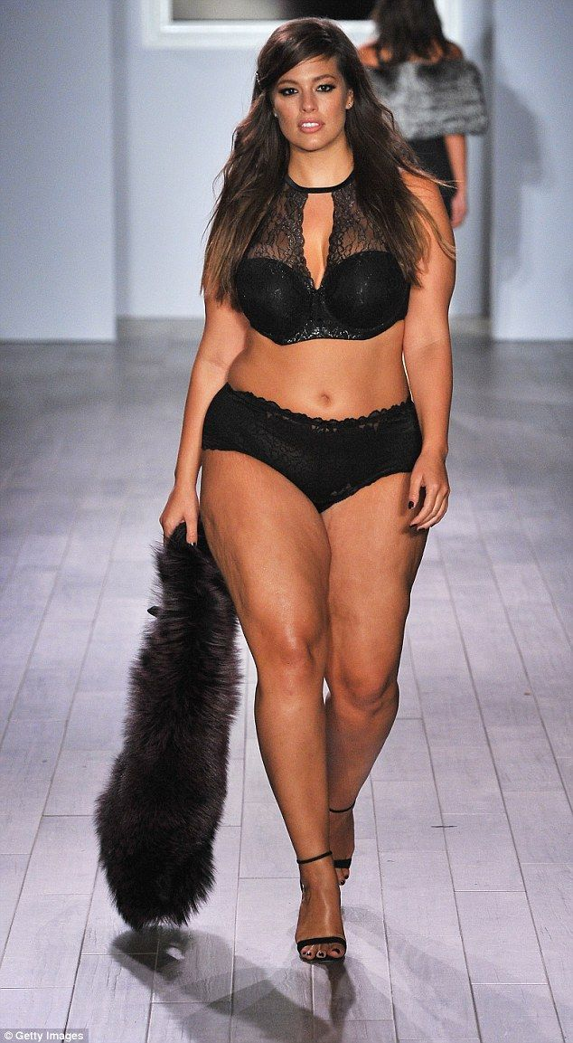 ce14c11c8dd Size 16 Ashley made history after becoming the first plus-size model to  feature in the esteemed pages of Sports Illustrated s swimsuit issue