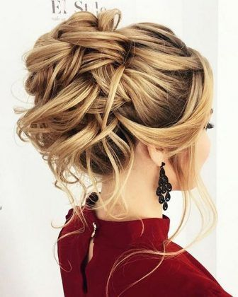 Peinado De Novia Recogido Elegante Novia Con Coleta Alta Novia Con - Los-recogidos-mas-elegantes