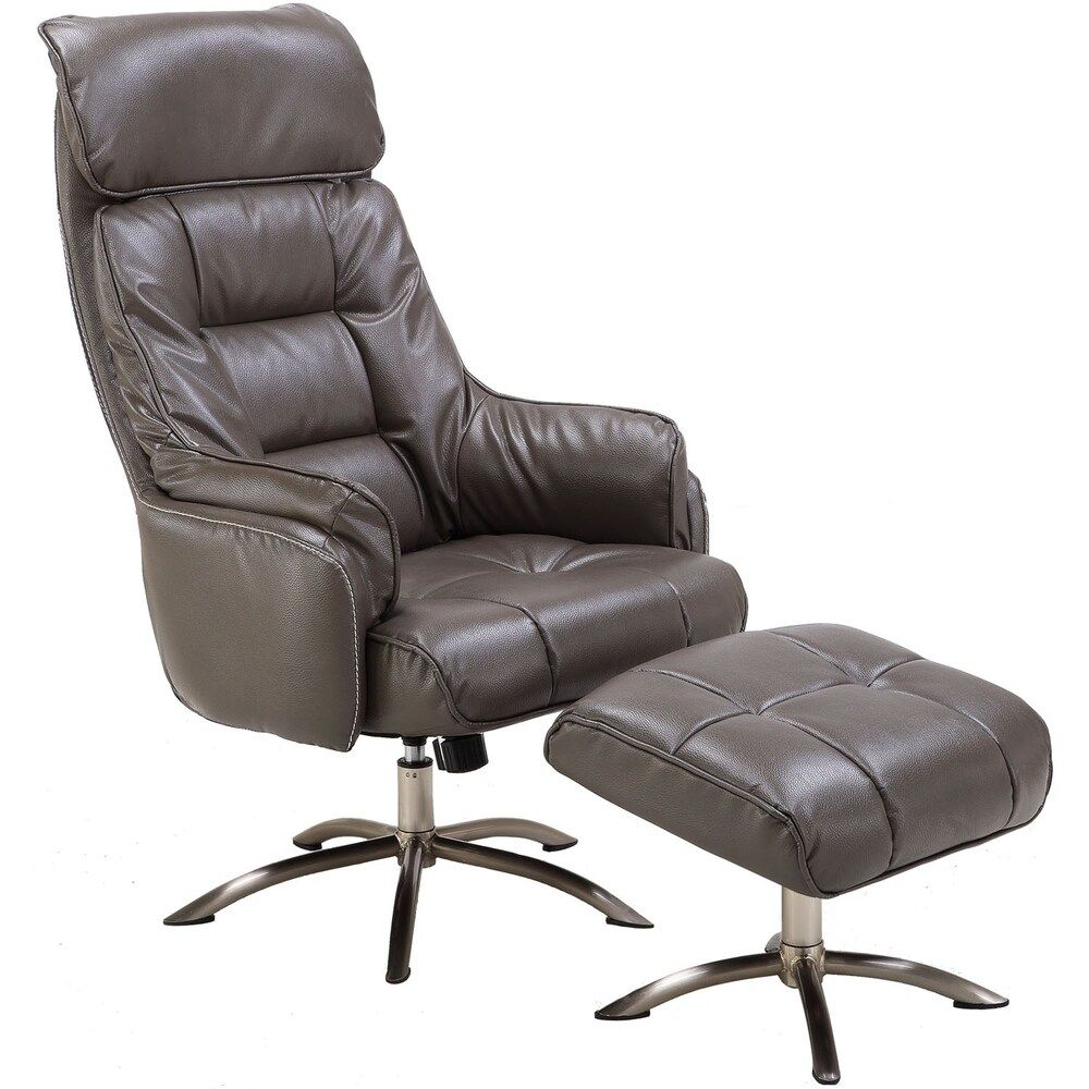 Hanover Parker PU Leather Office Chair with Ottoman in