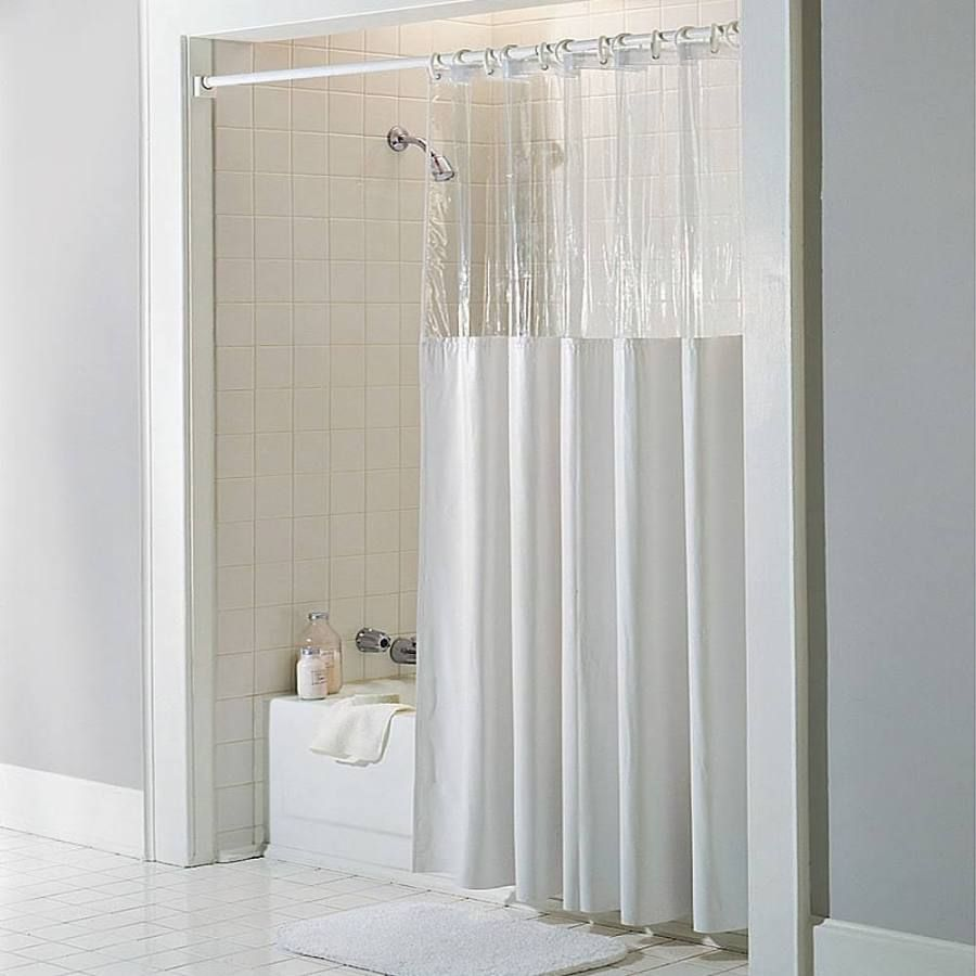 Clear Shower Curtain Vinyl Shower Curtains Hookless Shower