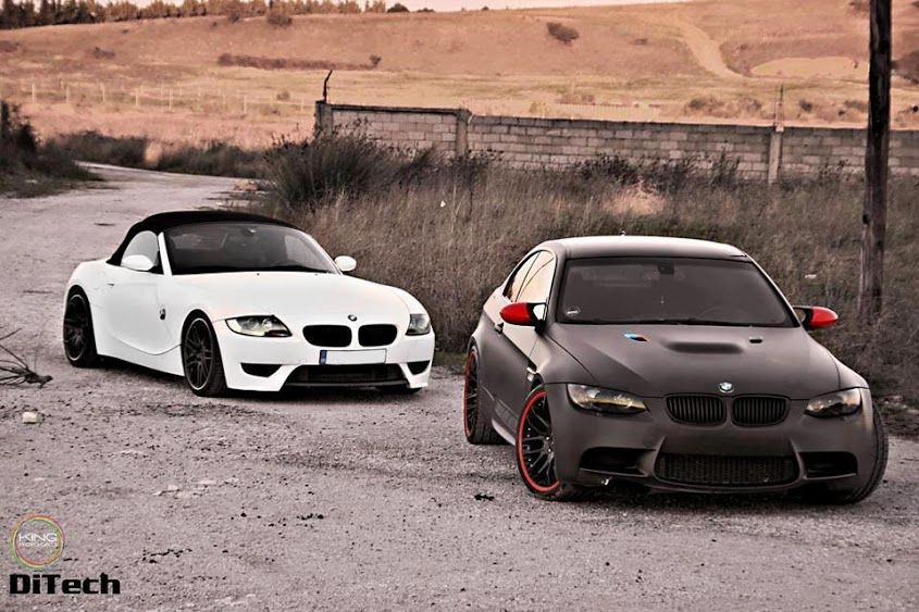 Bmw Z4 White And E92 M3 Matte Black With Images Bmw Z4 Bmw