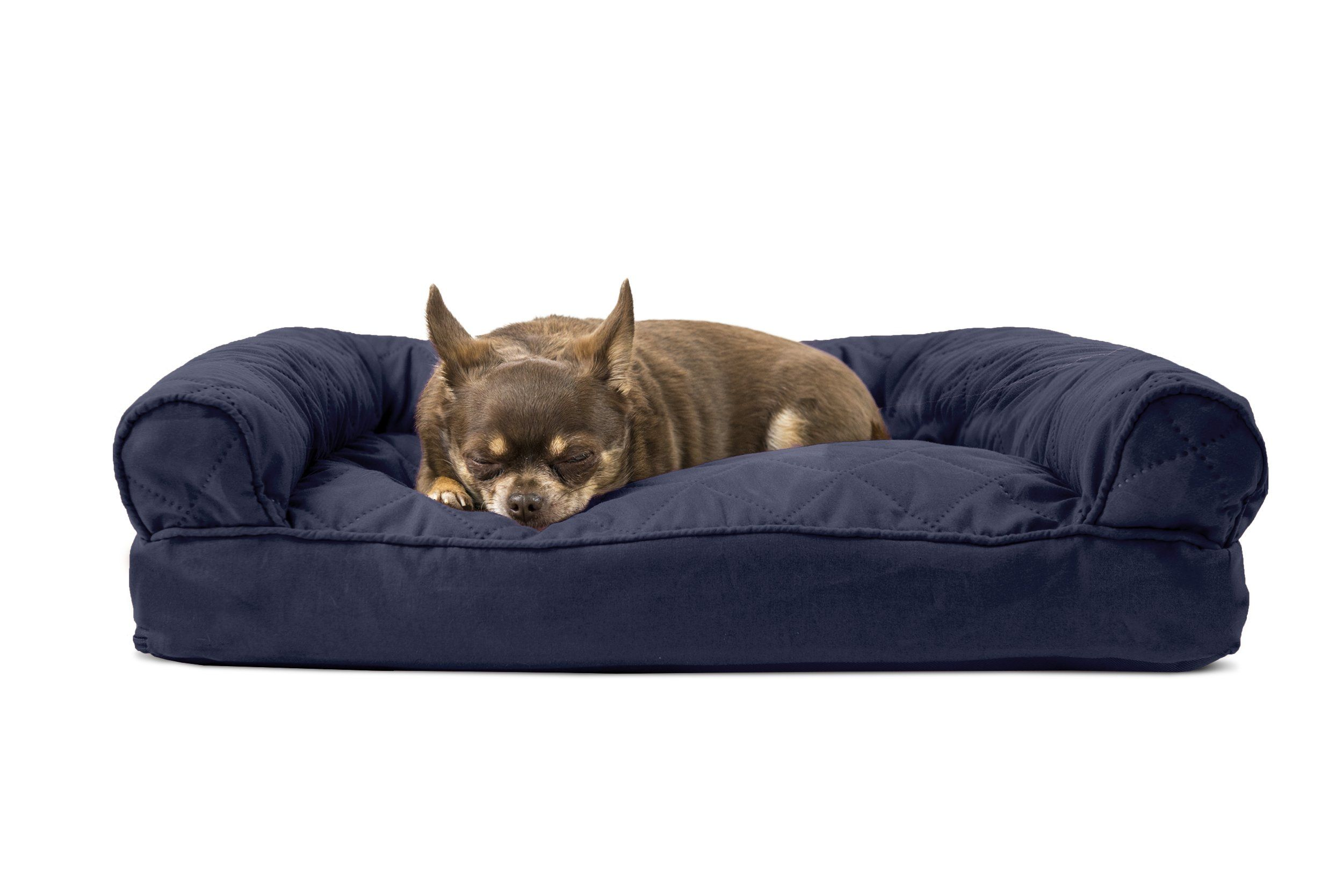 Furhaven Pet Quilted Pillow Sofa Pet Bed Navy Small Examine This Outstanding Product By Going To The Link At The Image Quilted Sofa Pet Sofa Bed Dog Couch