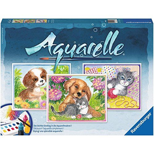 Ravensburger Aquarelle Watercolors Made Easy Animal Friends