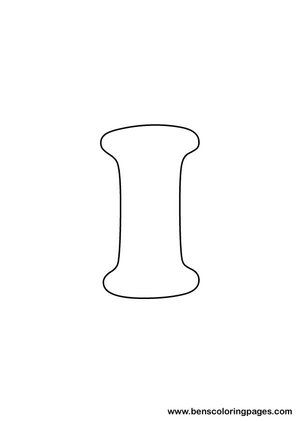 free letter i coloring page
