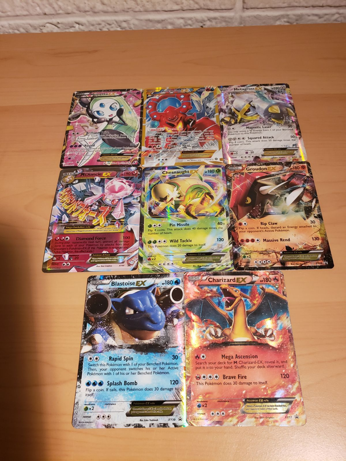 6 ex pokemon cards all holo all have been lightly played