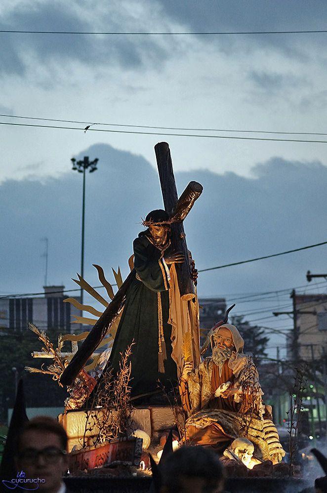 Miercoles de ceniza 18/02/15 Vía Crucis Penitencial. Jesús de la Justicia. Templo El Calvario #cuaresma #Guatemala #devociónyfé