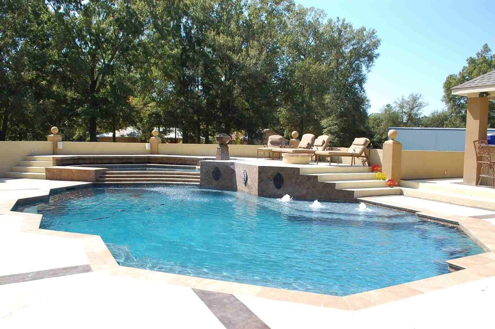 Pool- Gorgeous Gunite Pool and Hot Tub complete with fiber optic ...