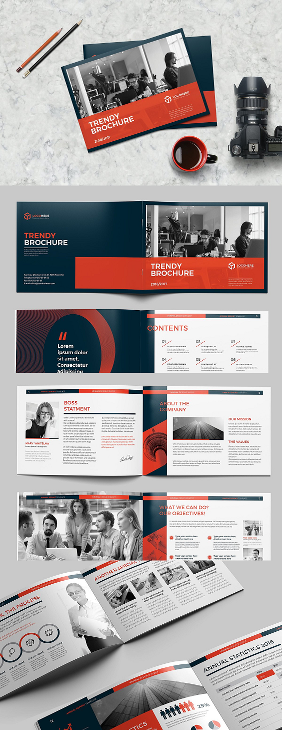 A5 Landscape Brochure #A5 #size #brochure #templates #PSD ...