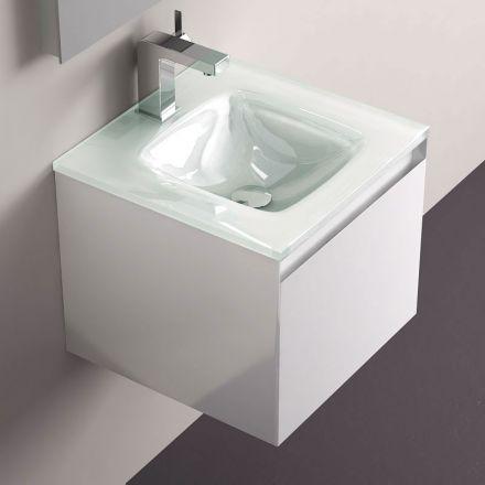 Un Meuble Support De Plan Vasque En Verre Tres Style Ideal