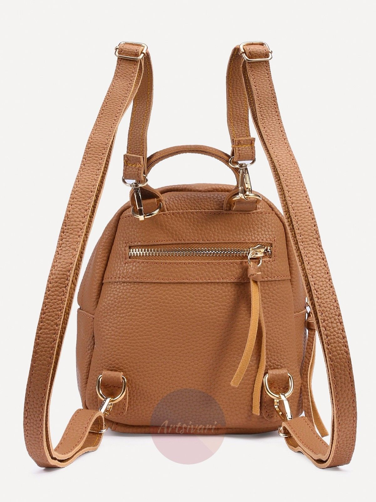 762f8cb05a65 Stylish PEBBLED Backpack Faux Leather Women Handbag Travel Casual Bag  Rucksack