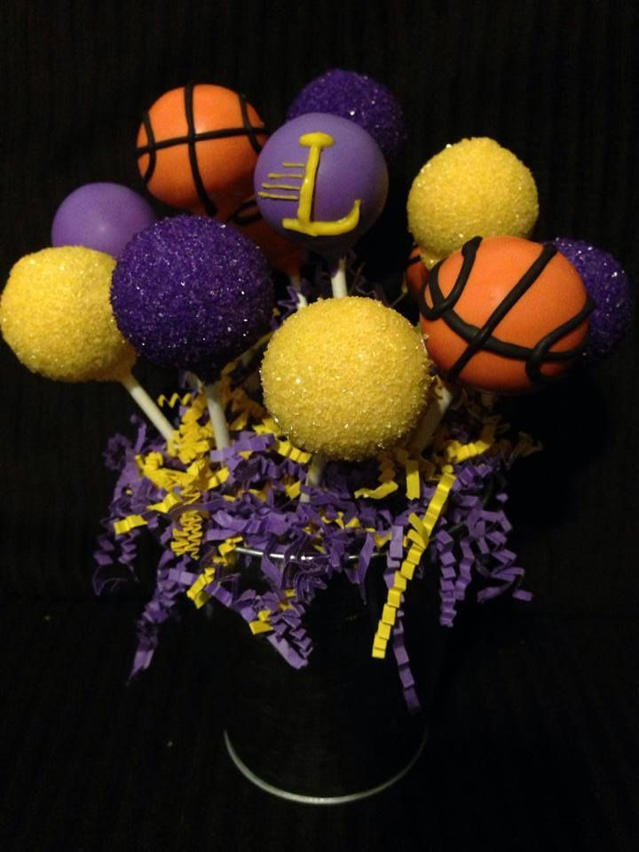 KOBE ~ Mamba!  Lakers!!  Purple & Yellow & basketball pops ;)